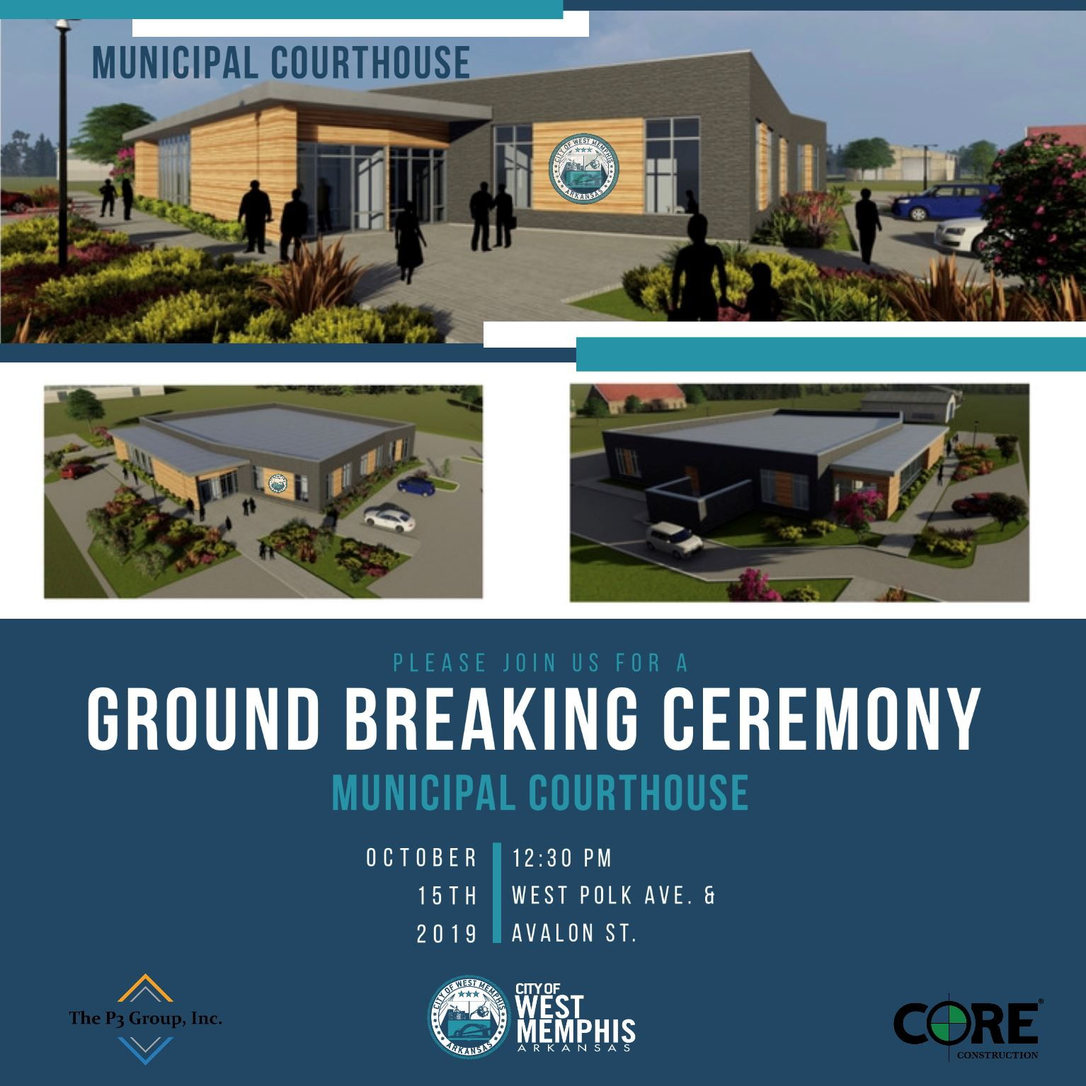 west memphis municipal courthouse ground breaking ceremony invitation