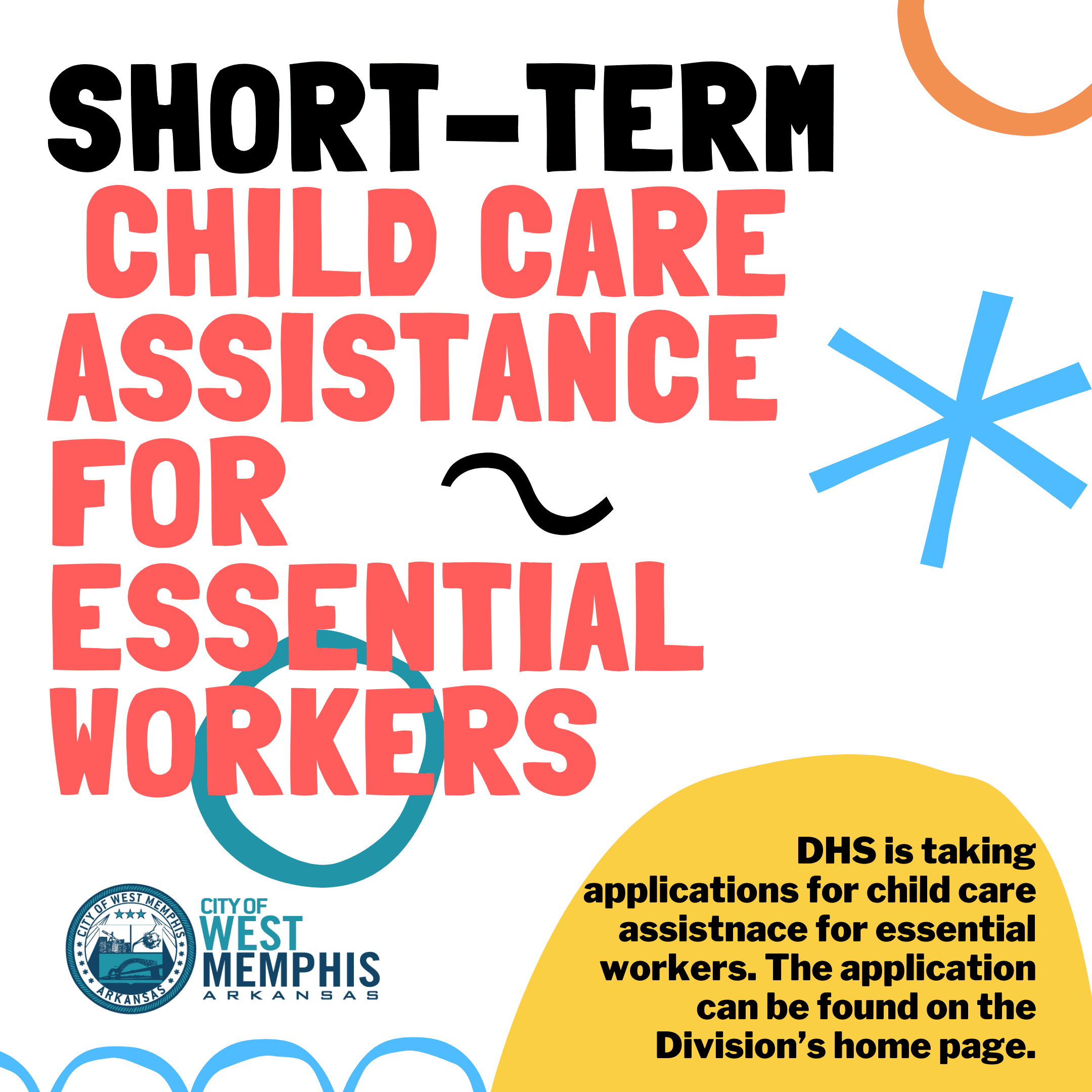 Short term child care for essential workers DHS