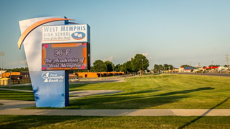 Academies of West Memphis High School District sign