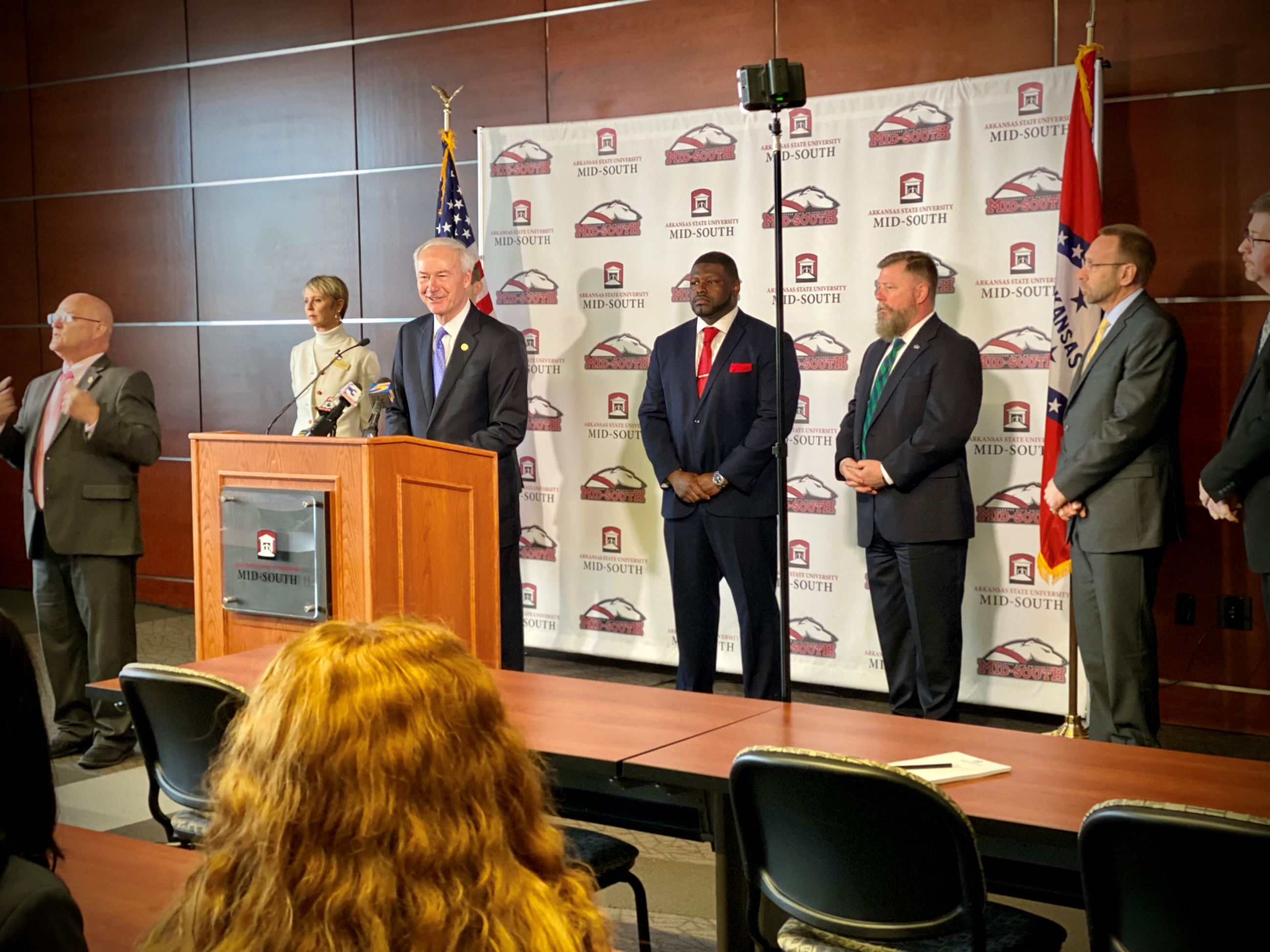 Governor Hutchinson live press conference in West Memphis